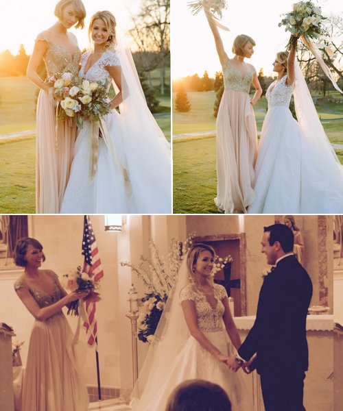 Alors qu'elle était en Pennsylvanie, Taylor a assisté au mariage de son amie de longue date, Bettany, en tant que demoiselle d'honneur.