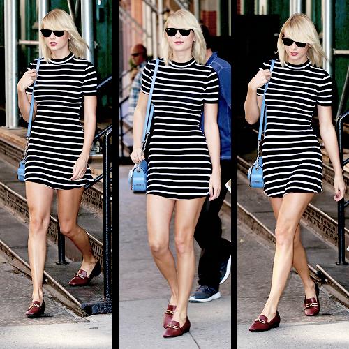 Le 14 Septembre, Taylor a été vue quittant son appartement de NYC
