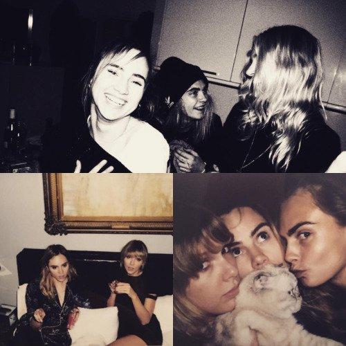 Taylor a posté ce montage de photos pour l'anniversaire d'une amie + Tenues sur tapis rouges, version 2016