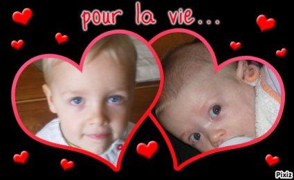 Noa et Lili mes deux cousin
