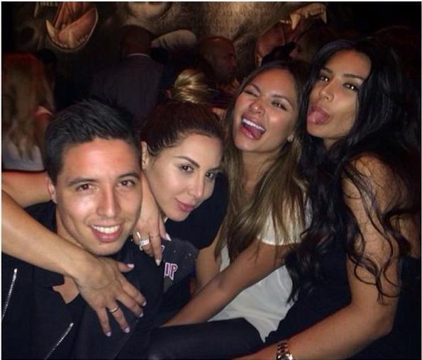 Anara Atanes, Samir Nasri & des amis à Los Angeles