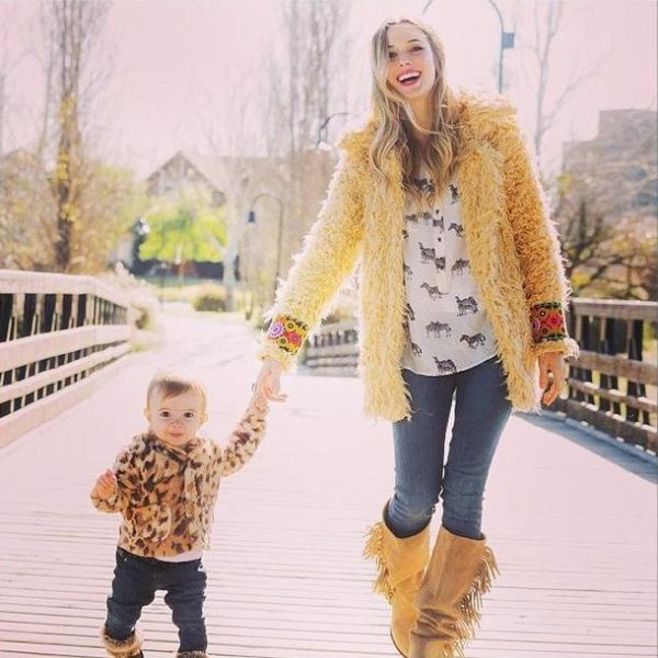 Cecilia Bonelli avec sa fille Lupe