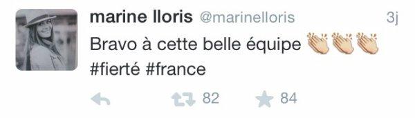 Marine Lloris après le match France - Allemagne