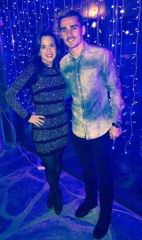 Erika & Antoine Griezmann lors du Nouvel An