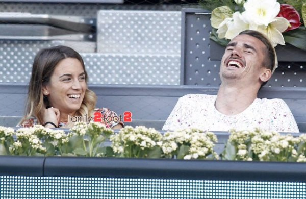 Erika & Antoine Griezmann au Mutua Open Tennis de Madrid