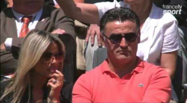 christophe galtier et sa femme roland garros blog de frenchwags. Black Bedroom Furniture Sets. Home Design Ideas