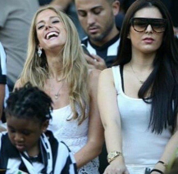 Lisa avec Maria (Llorente) lors de la finale de la Champions League à Berlin