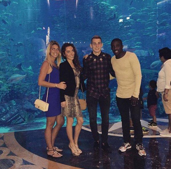 Elodie & Rio Mavuba avec Tiziri & Lucas Digne à Dubaï