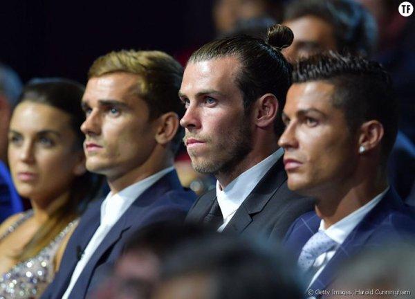 Erika & Antoine Griezmann lors de la remise du joueur UEFA à Monaco