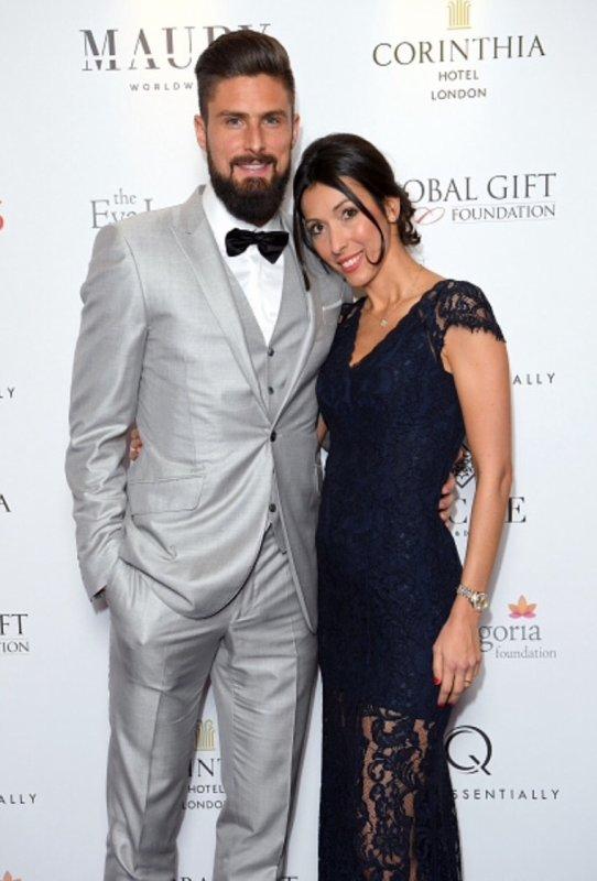 Jennifer & Olivier Giroud lors du Annual Global Gift Gala à Londres