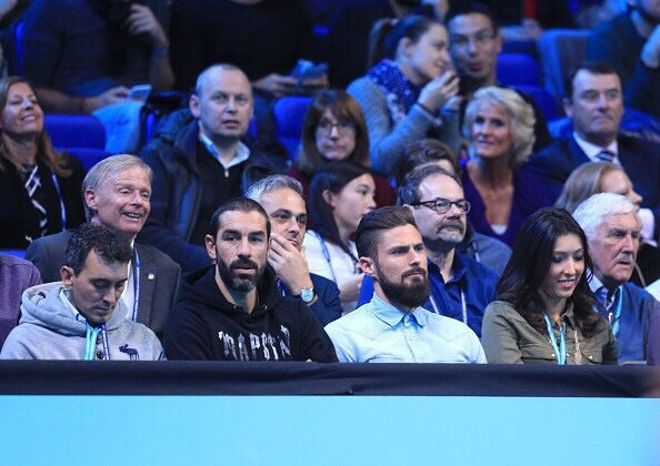 Jennifer & Olivier Giroud lors de l'ATP à Londres