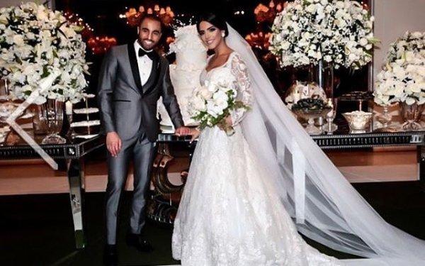 Larissa & Lucas Moura lors de leur mariage!
