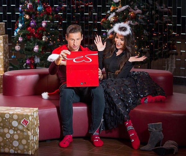 Celia & Grzegorz Krychowiak lors de Noël!