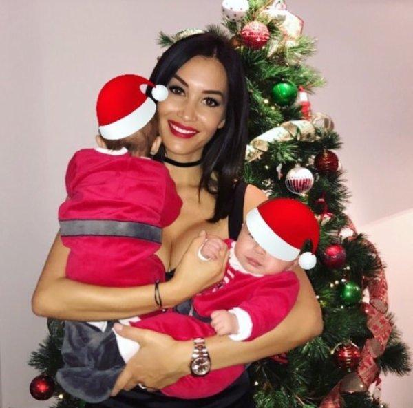 Sidonie et ses fils lors de Noël!