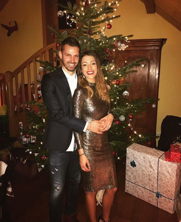 Camille & Morgan Schneiderlin lors de Noël!