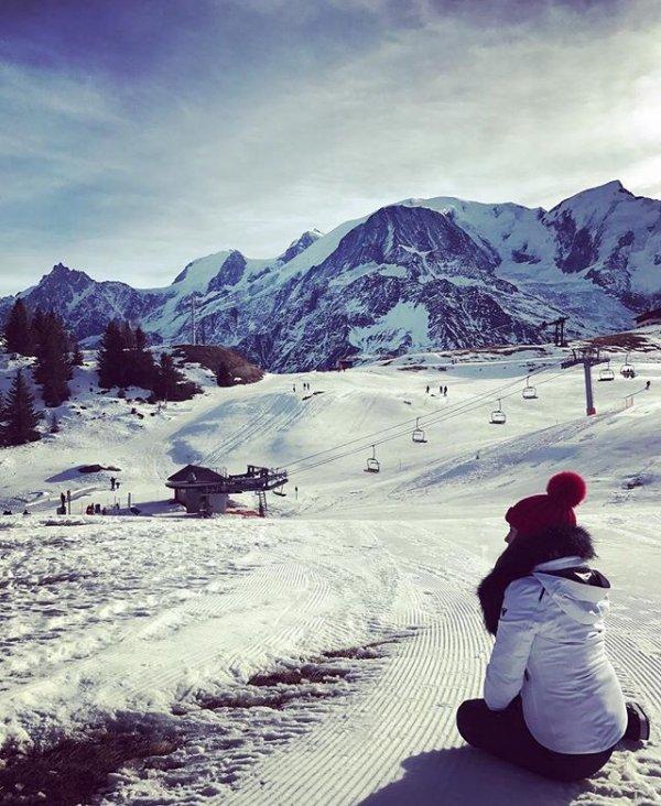 Erika avec la famille d'Antoine en Haute-Savoie