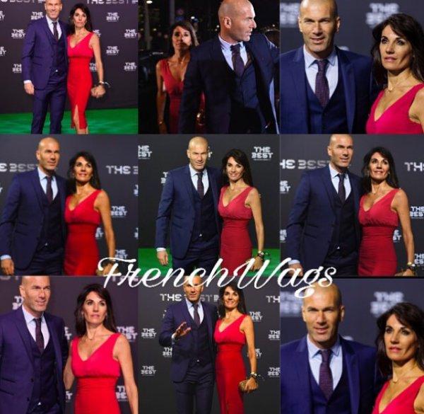 Véronique & Zinedine Zidane lors des Football Awards à Zurich