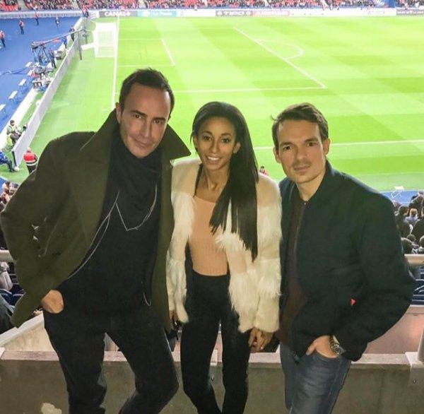 Déborah & Thomas Meunier pendant PSG - Metz