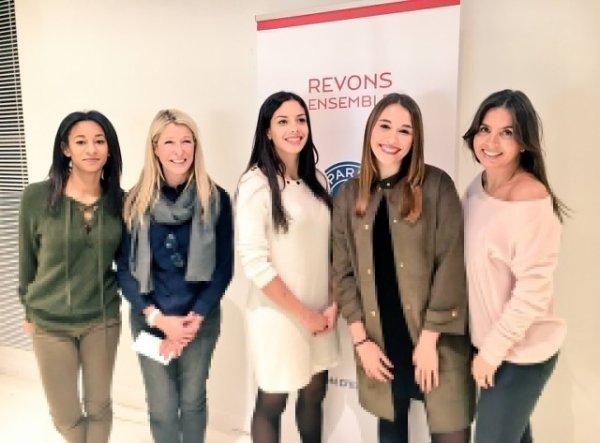 Giulia, Carol, Déborah, Chiara, Laura, Eve & Isabelle pour la Fondation PSG