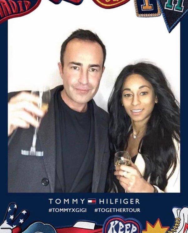 Déborah à l'événement Tommy Hilfiger à Paris