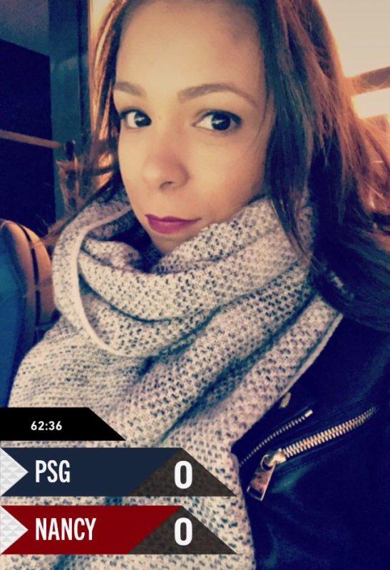 Isabelle lors de PSG - ASNL