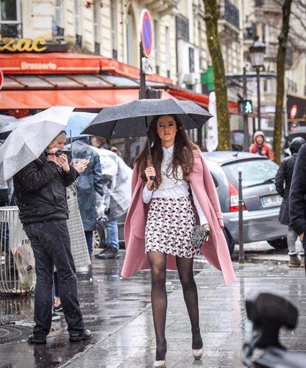 Celia lors de la Fashion Week