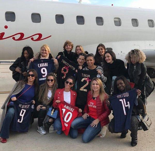 Déborah, Isabelle, Rossana, Laura, Chiara, Jorgelina, Jocelyn, Angela & Isabelle à Barcelone