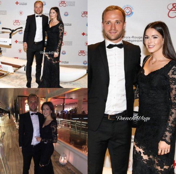 Amandine & Valere Germain lors d'un dîner en faveur de la Fondation de la Princesse Charlène à Monaco
