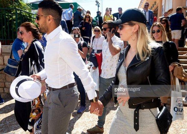 Lorelei & Radamel Falcao lors des Rolex Master a Monaco