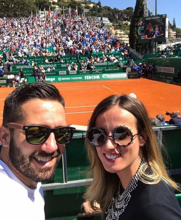 Ana & Joao Moutinho lors des Rolex Master à Monaco