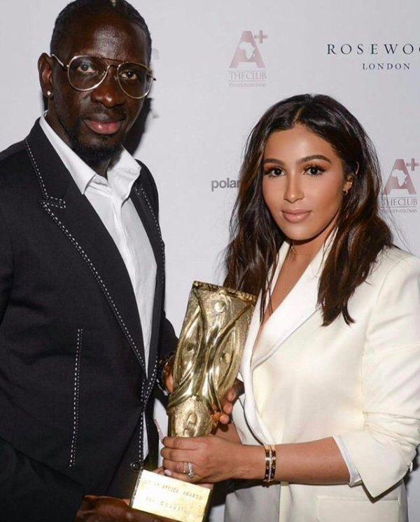 """Majda & Mamadou Sakho ont reçu le prix """"Association de l'année"""" à Londres"""