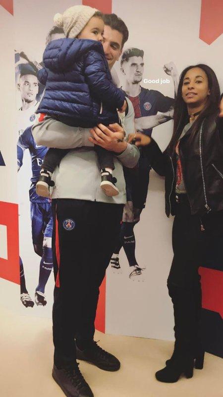 Déborah & Thomas Meunier lors de la demi finale PSG - ASM