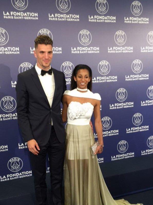 Déborah & Thomas Meunier au dîner de la Fondation PSG