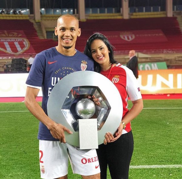 Rebeca & Fabinho fêtent le titre de l'AS Monaco à Louis II