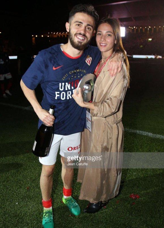 Alicia & Bernardo E Silva fêtent le titre de l'AS Monaco à Louis II