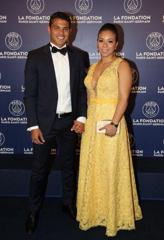 Isabelle & Thiago Silva au Gala de la Fondation PSG