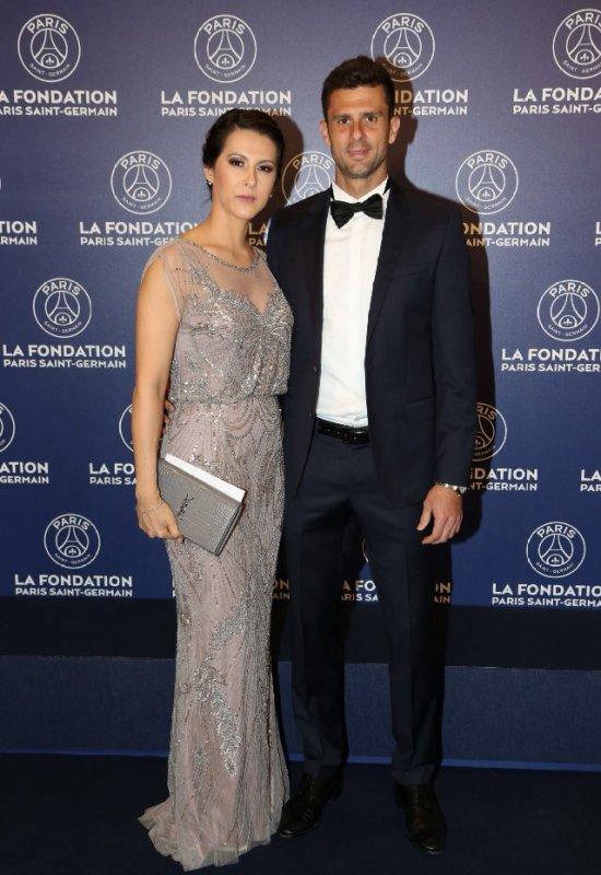 Angela & Thiago Motta au Gala de la Fondation PSG