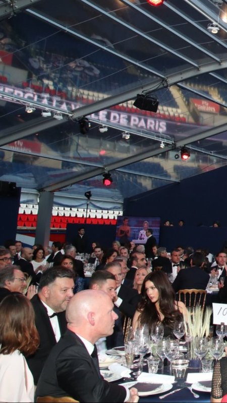 Lena au Gala de la Fondation PSG