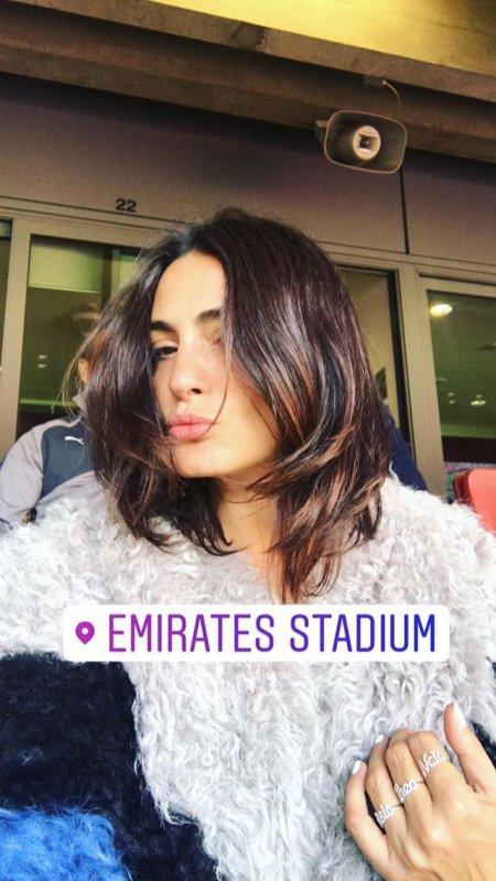 Jessica à l'Emirates Stadium