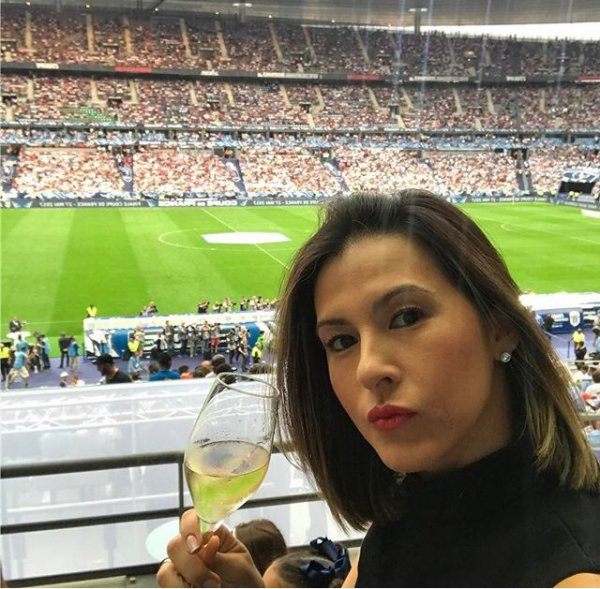 Angela lors de PSG - SCO Angers