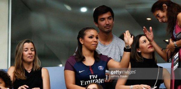 Isabelle & Angela lors de PSG - SCO Angers