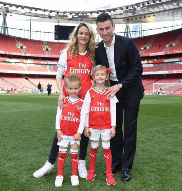 Claire & Laurent Koscielny à l'Emirates Stadium