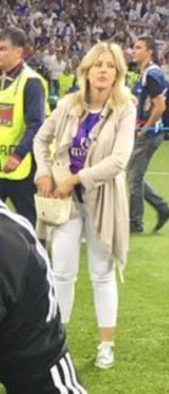 Camille lors de la finale de la Champions League