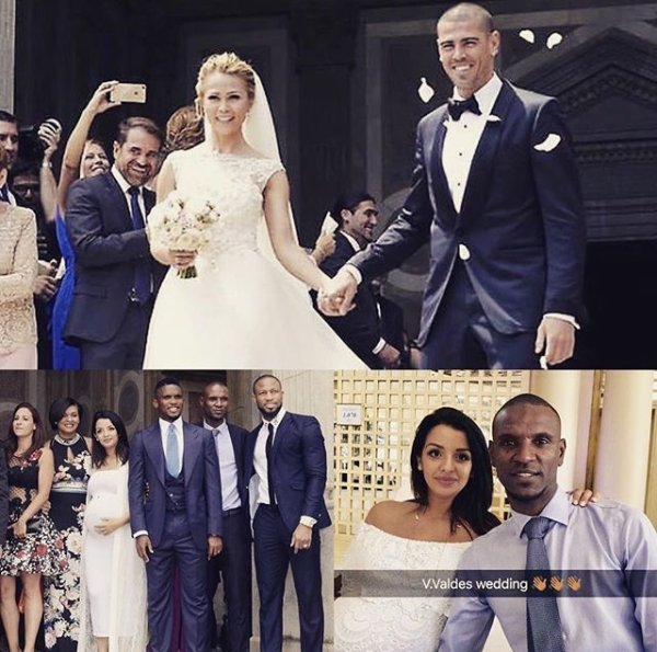 Hayet & Eric Abidal au mariage de Yolanda & Victor Valdes!