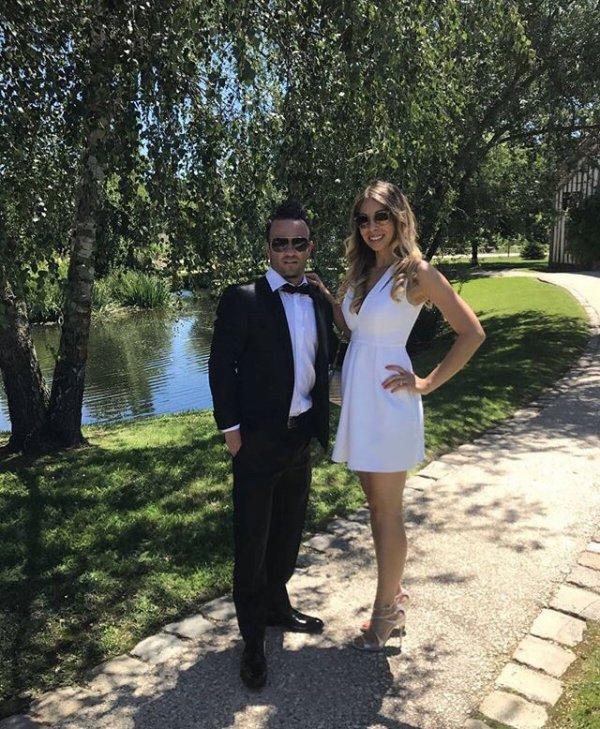 Fanny & Mathieu Valbuena au mariage d'Elodie & Rio Mavuba près de Bordeaux!