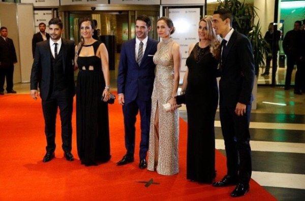 Jorgelina & Angel Di Maria pour le mariage d'Antonela & Leo Messi