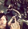 #Selfie Daryl et les figurent zombies XD