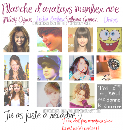 Planche d'avatars number 1