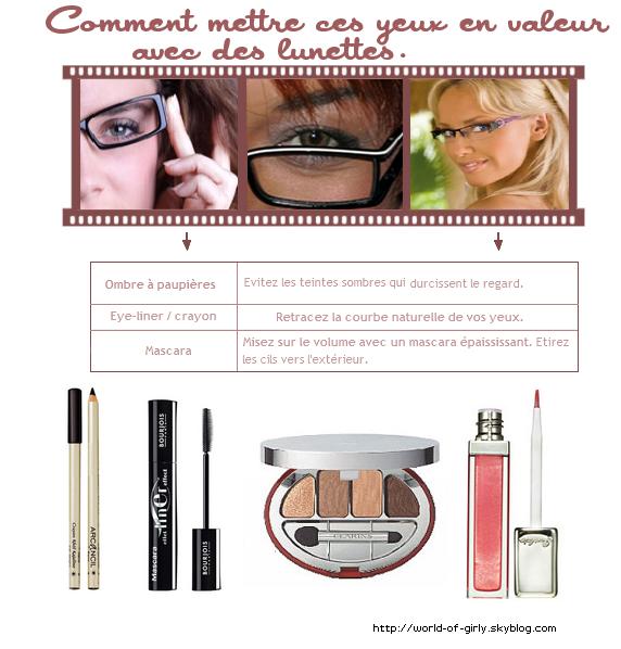 Maquillage :  Comment mettre ces yeux en valeur tout en portant ces lunettes ?