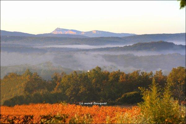 La brume du matin annonce une belle journée ensoleillée.